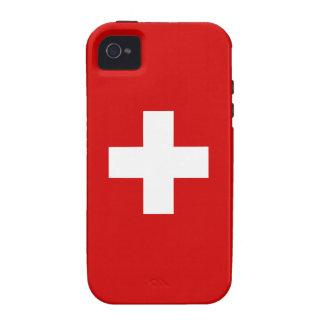 La bandera de Suiza Case-Mate iPhone 4 Carcasas