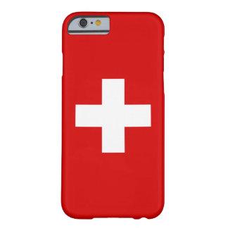 La bandera de Suiza Funda De iPhone 6 Barely There