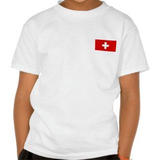 La bandera de Suiza T-shirts
