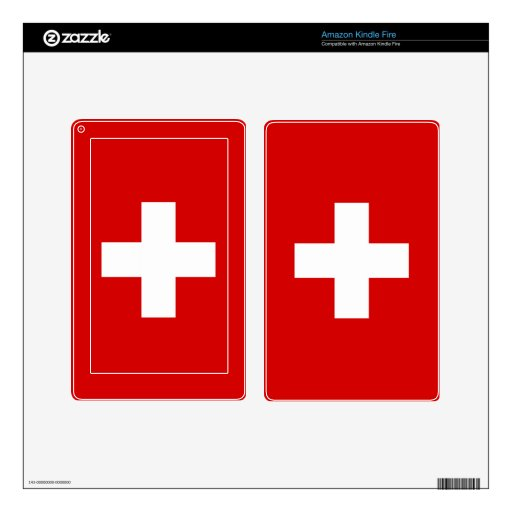 La bandera de Suiza Pegatinas Skins Para Kindle Fire