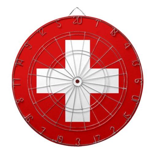 La bandera de Suiza Tabla Dardos