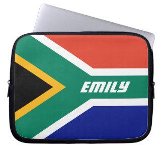La bandera de Suráfrica personalizó Mangas Computadora