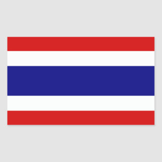 La bandera de Tailandia Pegatina Rectangular