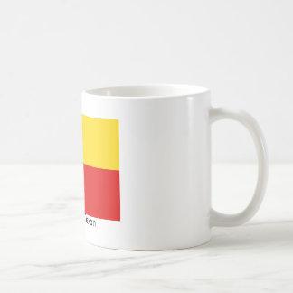 La bandera de Tejas con la bandera alemana colorea Taza