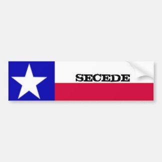 La bandera de Tejas Secede al pegatina Pegatina Para Auto