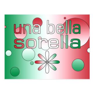 La bandera de Una Bella Sorella Italia colorea Postales