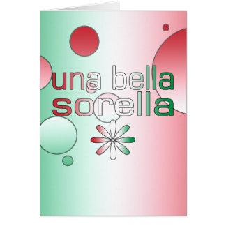 La bandera de Una Bella Sorella Italia colorea Tarjeta Pequeña