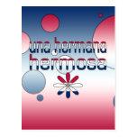 La bandera de Una Hermana Hermosa América colorea  Postal