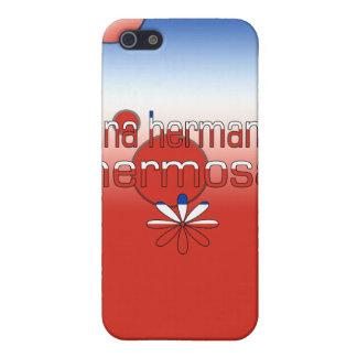La bandera de Una Hermana Hermosa Chile colorea ar iPhone 5 Carcasa