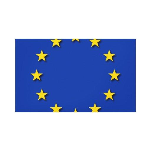 La bandera de unión europea/UE señala por medio de Impresiones En Lona