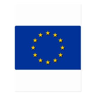 La bandera de unión europea/UE señala por medio de Postal