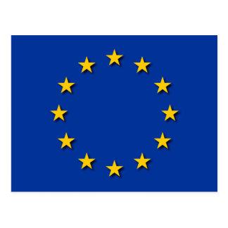 La bandera de unión europea/UE señala por medio de Postales