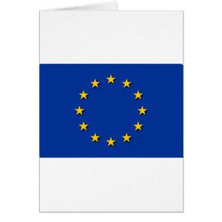 La bandera de unión europea/UE señala por medio de Tarjeta De Felicitación