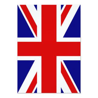 """La bandera de Union Jack Invitación 5"""" X 7"""""""