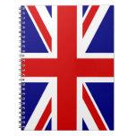 La bandera de Union Jack Libro De Apuntes Con Espiral