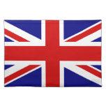 La bandera de Union Jack Manteles