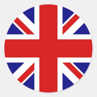 La bandera de Union Jack Etiquetas Redondas