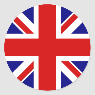 La bandera de Union Jack Pegatina Redonda