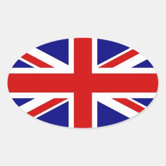 La bandera de Union Jack Pegatinas Ovaladas