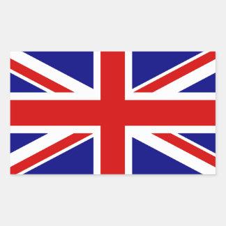 La bandera de Union Jack Pegatina Rectangular