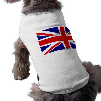 La bandera de Union Jack Playera Sin Mangas Para Perro