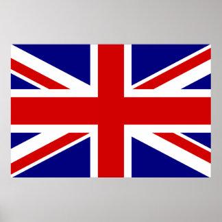 La bandera de Union Jack Póster