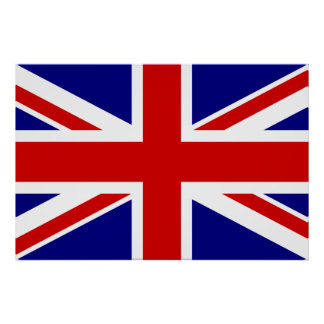 La bandera de Union Jack Posters