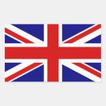 La bandera de Union Jack Rectangular Pegatinas