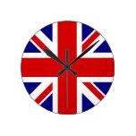 La bandera de Union Jack Reloj De Pared