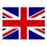 La bandera de Union Jack Tarjeta Postal