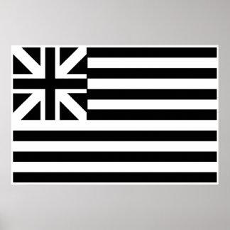 La bandera de unión magnífica poster
