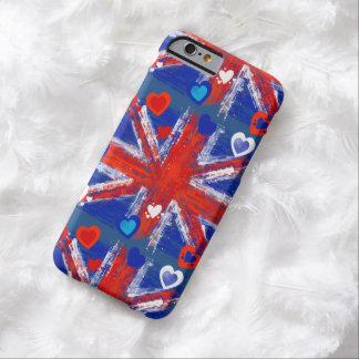 La bandera de unión, Union Jack, bandera BRITÁNICA Funda De iPhone 6 Barely There