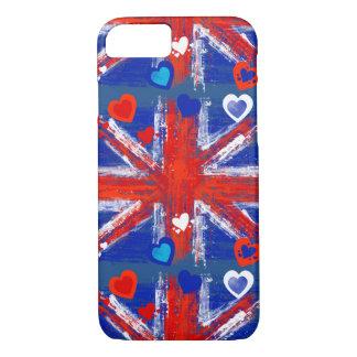La bandera de unión, Union Jack, bandera BRITÁNICA Funda iPhone 7