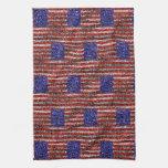 La bandera de Van Gogh de los Estados Unidos Toallas