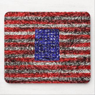 La bandera de Van Gogh de los Estados Unidos Alfombrilla De Ratones