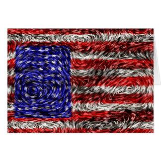 La bandera de Van Gogh de los Estados Unidos Felicitación