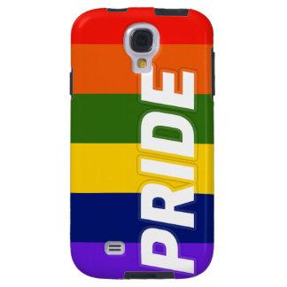 La bandera del arco iris del orgullo raya las funda para galaxy s4