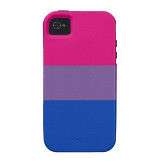 La bandera del BI vuela para el orgullo bisexual Case-Mate iPhone 4 Fundas