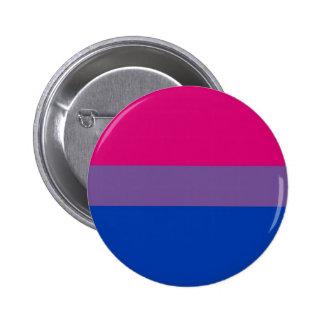 La bandera del BI vuela para el orgullo bisexual Pin Redondo De 2 Pulgadas