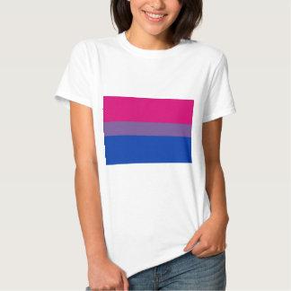La bandera del BI vuela para el orgullo bisexual Poleras