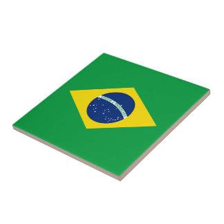La bandera del Brasil Azulejo Cuadrado Pequeño