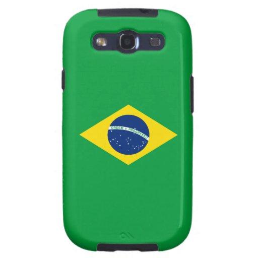 La bandera del Brasil Galaxy S3 Funda