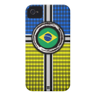 La bandera del Brasil graba en relieve la caja ama iPhone 4 Cobertura