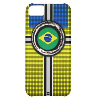 La bandera del Brasil graba en relieve la caja ama