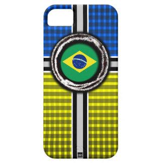 La bandera del Brasil graba en relieve la caja ama iPhone 5 Case-Mate Carcasa