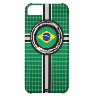 La bandera del Brasil graba en relieve la caja ver