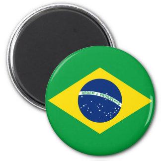 La bandera del Brasil Imán Redondo 5 Cm