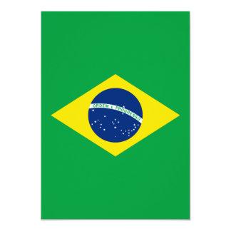 """La bandera del Brasil Invitación 5"""" X 7"""""""