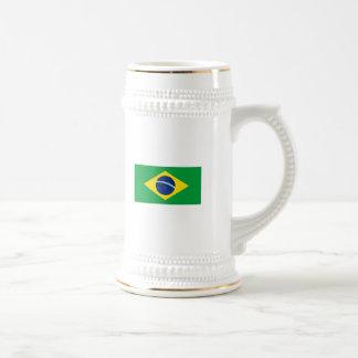 La bandera del Brasil Jarra De Cerveza