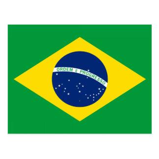 La bandera del Brasil Postales
